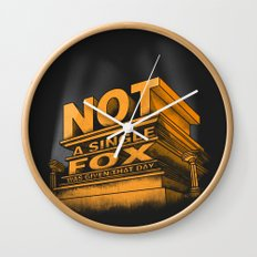 Not a single fox was given that day Wall Clock