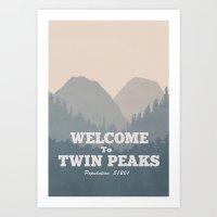 Welcome To Twin Peaks V2 Art Print
