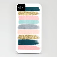 Zara - Brushstroke Glitt… iPhone (4, 4s) Slim Case