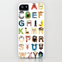 iPhone 5s & iPhone 5 Cases featuring Muppet Alphabet by Mike Boon