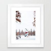 snow spoon & cherry Framed Art Print