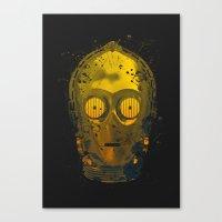 C3PO Splash Canvas Print