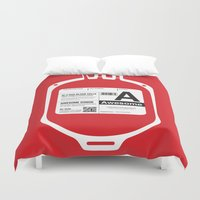 My Blood Type Is A, For … Duvet Cover