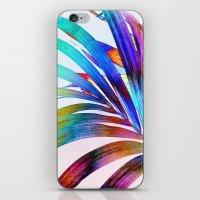 Multicolor Palm Leaf iPhone & iPod Skin