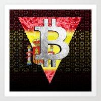Bitcoin Spain Art Print