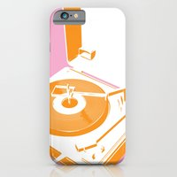 iPhone & iPod Case featuring 45rpm 33 1/3rpm 16rpm by modernfred