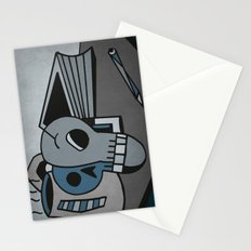 Skull, Book and Coffee Stationery Cards