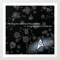 Spock Quote Art Print