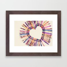 love in every color Framed Art Print