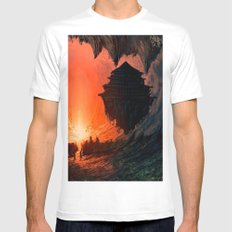 Feudal Cavern Mens Fitted Tee White SMALL