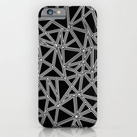 iPhone & iPod Case featuring Abstract New White on Black by Project M