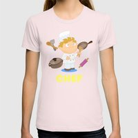 Chef Womens Fitted Tee Light Pink SMALL