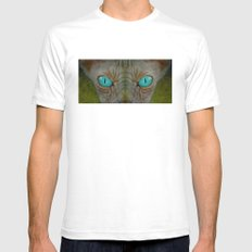 Sphynx Stare Mens Fitted Tee White SMALL