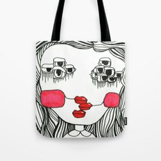 Monster with Cheeks Tote Bag