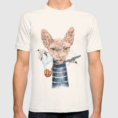Sphynx Cat II Mens Fitted Tee Natural SMALL