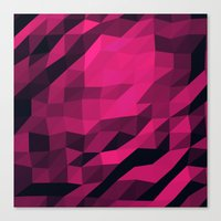 Red Pink Geometric Patte… Canvas Print