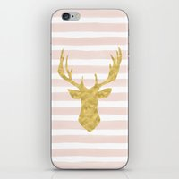 Pink Watercolor Stripes … iPhone & iPod Skin