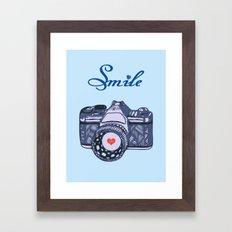Let Your Smile Change the World.  Framed Art Print