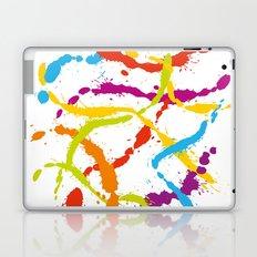 Splattered Rainbow [WHITE] Laptop & iPad Skin