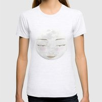 Moon Princess Yue 月 Womens Fitted Tee Ash Grey SMALL