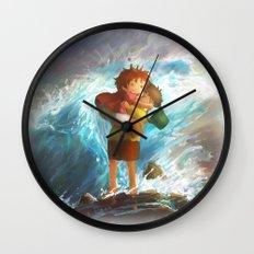 girl in the sea Wall Clock