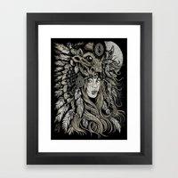 Spirit Of The Buffalo Framed Art Print