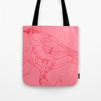 Pink Bird Tote Bag