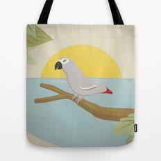 African Grey Parrot Tote Bag