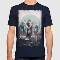 DJ Mens Fitted Tee Navy SMALL