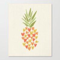 My Pineapple Valentine Canvas Print