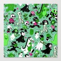 Alt Monster March (Green) Canvas Print