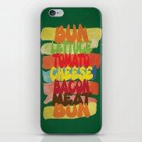 Funny Burger Typography Art  iPhone & iPod Skin