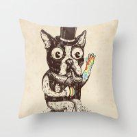 Strange Dog Throw Pillow