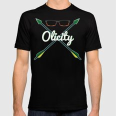 Olicity Shipper Mens Fitted Tee SMALL Black