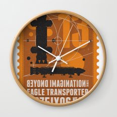 Beyond imagination: Space 1999 postage stamp  Wall Clock