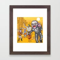 Trick or Tremble Framed Art Print