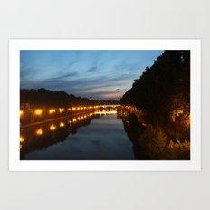 Rome evening Art Print