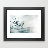 Blue Sparkle Framed Art Print