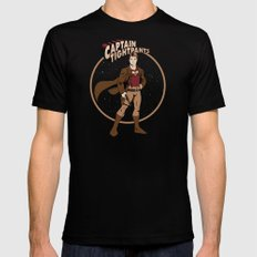 Captain Tightpants Mens Fitted Tee SMALL Black