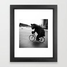 Biker Road Framed Art Print