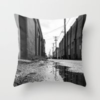 Gritty Tacoma alley Throw Pillow