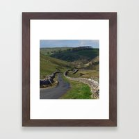 Kettlewell to Leyburn Road Framed Art Print