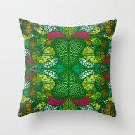 Throw Pillow featuring Tropical Jungle III by Datavis/pwowk