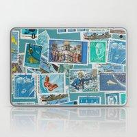 Postage Bleu Laptop & iPad Skin