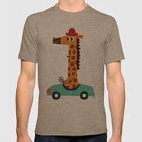giraffe driver Mens Fitted Tee Tri-Coffee SMALL