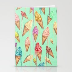 melted ice creams Stationery Cards