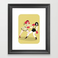 GIRLS! Framed Art Print
