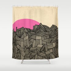 - obscure the pink shade of the sun - Shower Curtain