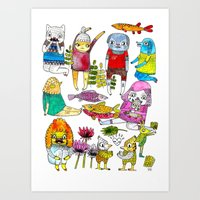 Critter Collection Art Print