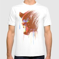 Mr. Grizzle  Mens Fitted Tee White SMALL